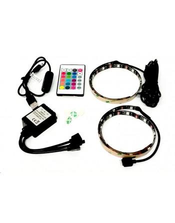 2x LED RGB Pásik pre TV s...
